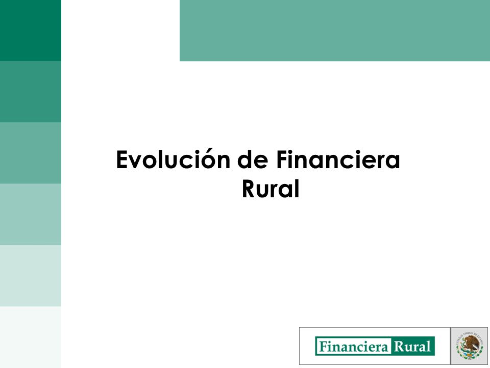 Evolución de Financiera Rural