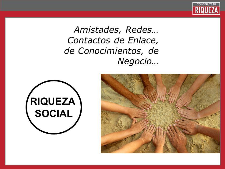 Page 8 RIQUEZA SOCIAL Amistades, Redes… Contactos de Enlace, de Conocimientos, de Negocio…