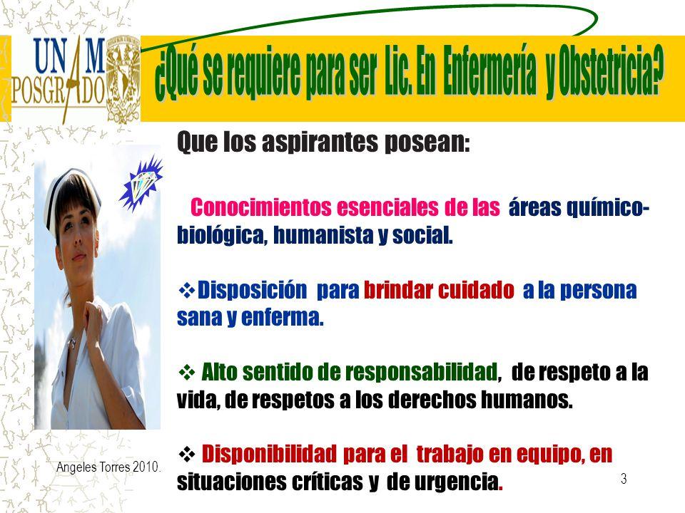 3 Que los aspirantes posean: Conocimientos esenciales de las áreas químico- biológica, humanista y social. Disposición para brindar cuidado a la perso