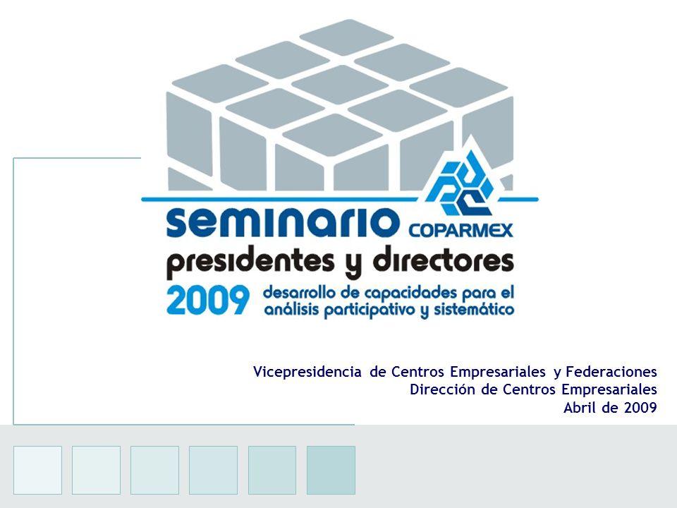 1 Vicepresidencia de Centros Empresariales y Federaciones Dirección de Centros Empresariales Abril de 2009