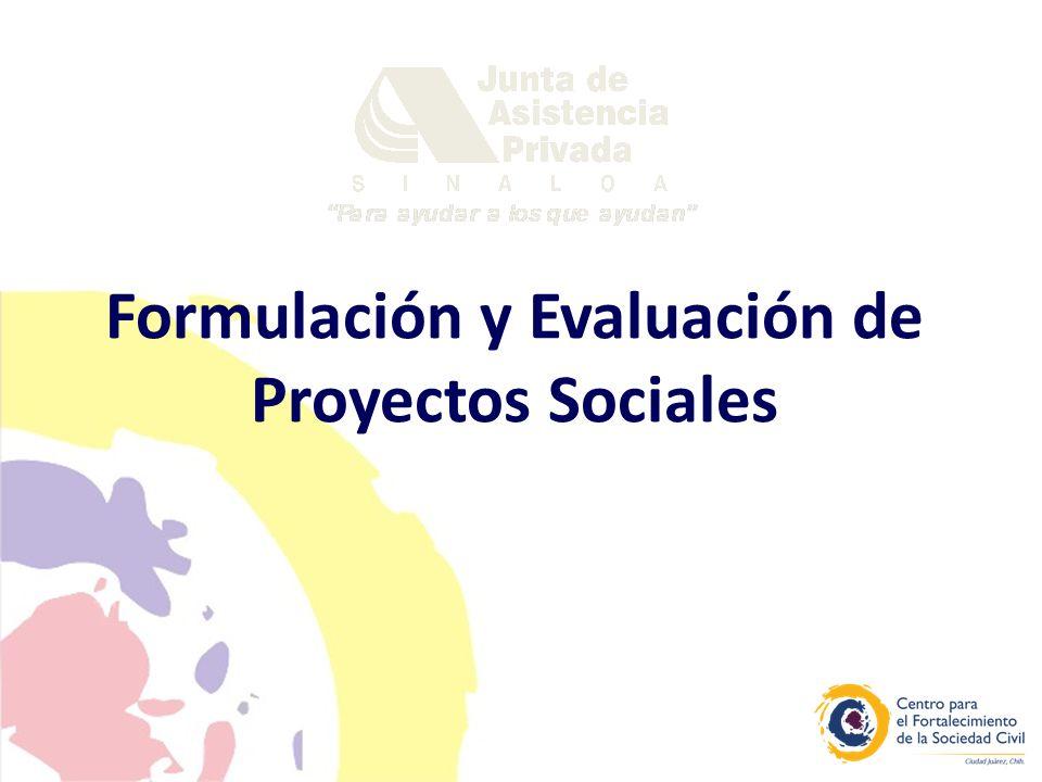2 Objetivo general: Generar en los participantes los elementos conceptuales y metodológicos necesarios para la formulación, seguimiento y evaluación de proyectos de desarrollo social.