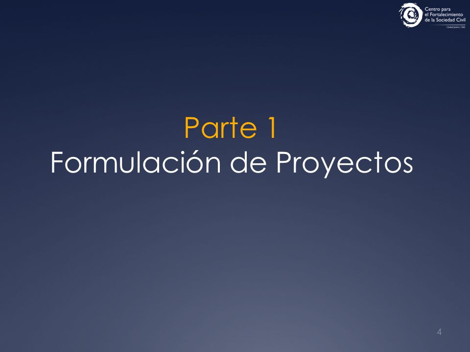 4 Parte 1 Formulación de Proyectos