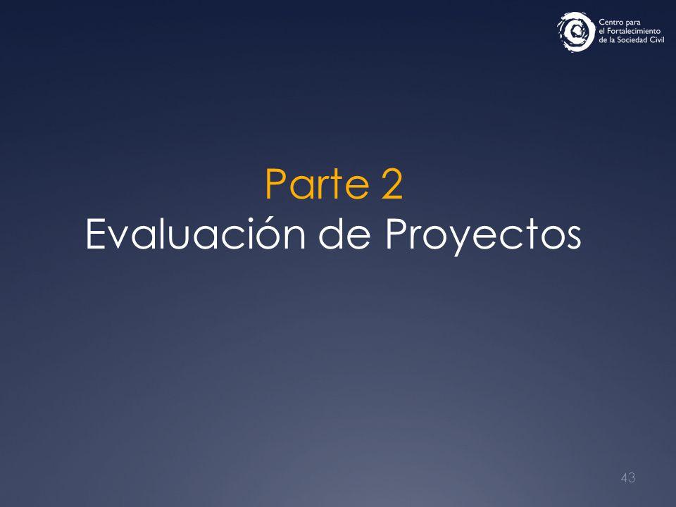 43 Parte 2 Evaluación de Proyectos