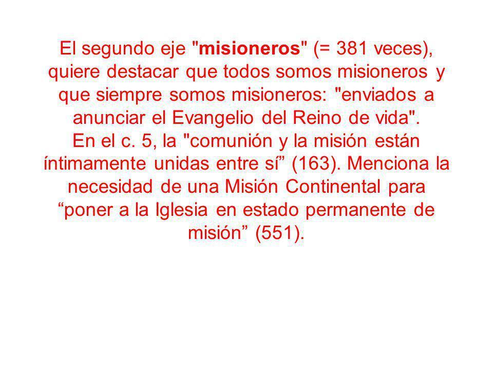 Capítulo 5 LA COMUNIÓN DE LOS DISCÍPULOS MISIONEROS EN LA IGLESIA 5.1.