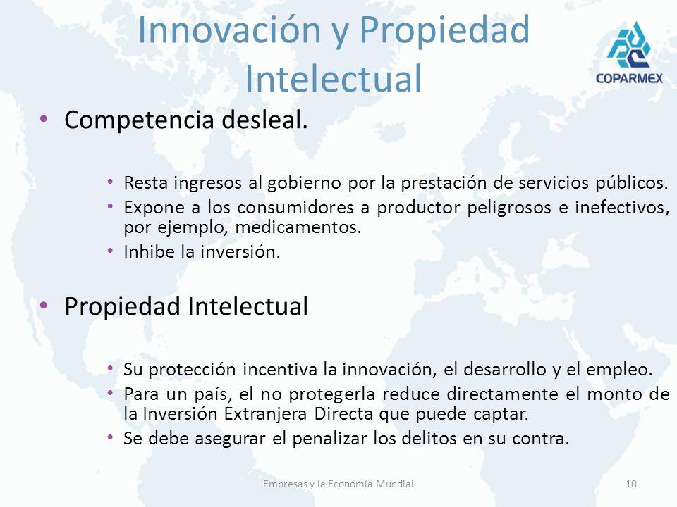 Innovación y Propiedad Intelectual Competencia desleal. Resta ingresos al gobierno por la prestación de servicios públicos. Expone a los consumidores