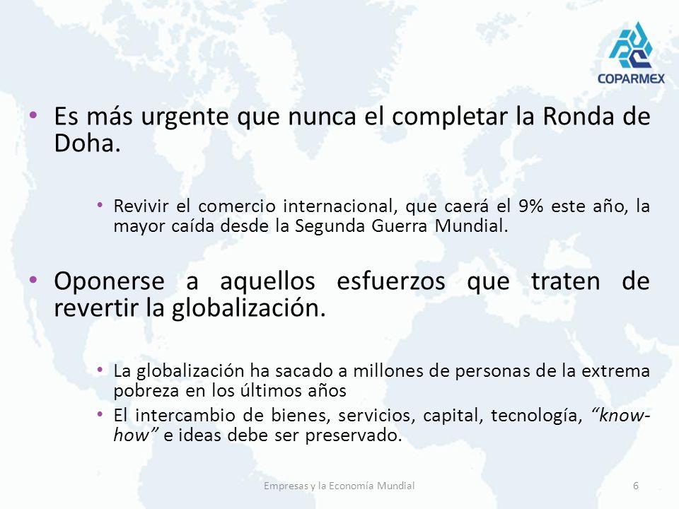 Mejor gobernanza a nivel global.