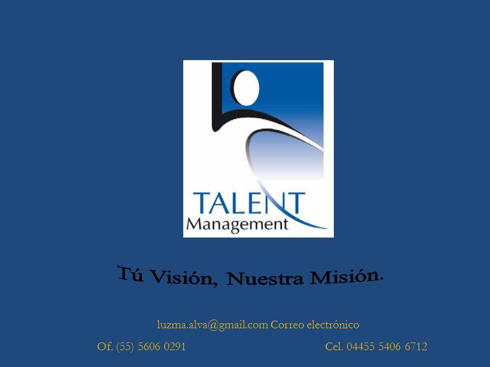 luzma.alva@gmail.com Correo electrónico Of. (55) 5606 0291 Cel. 04455 5406 6712