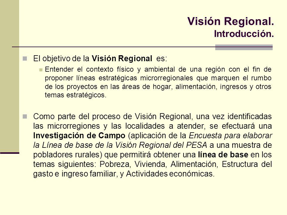 Visión Regional. Introducción. El objetivo de la Visión Regional es: Entender el contexto físico y ambiental de una región con el fin de proponer líne