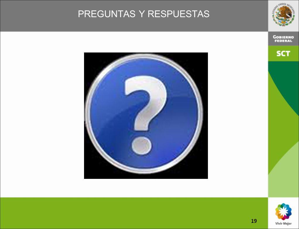PREGUNTAS Y RESPUESTAS 19