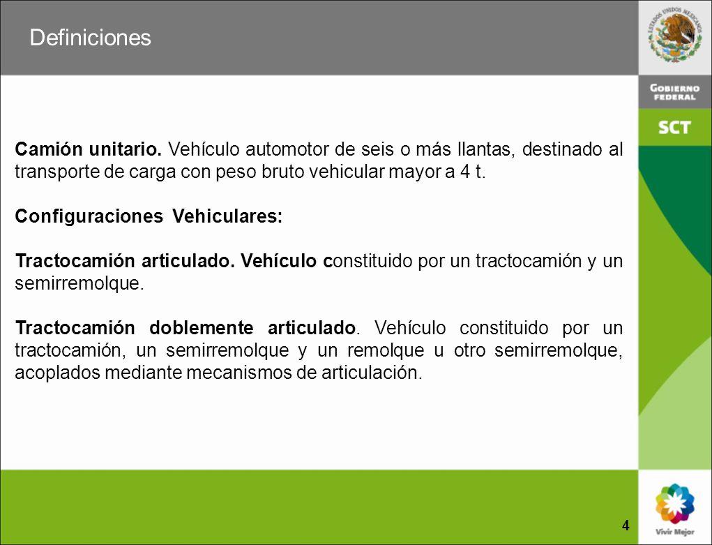 Clasificación de los caminos CARRETERA TIPO ET Son aquéllas que forman parte de los ejes de transporte, cuyas características geométricas y estructurales permiten la operación de todos los vehículos autorizados con las máximas dimensiones, capacidad y peso.