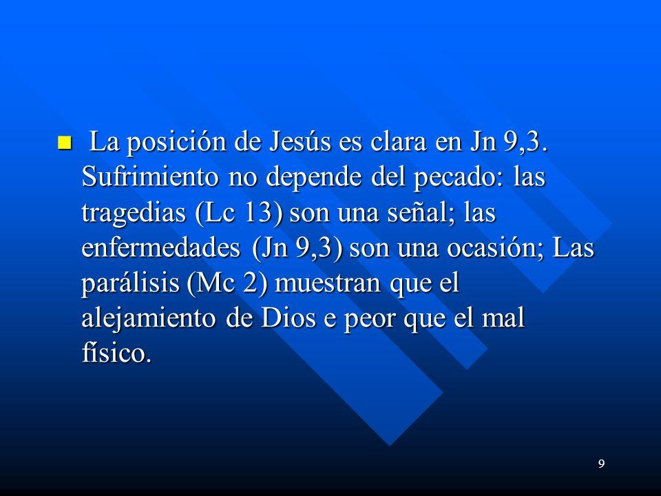 10 La oración Los exorcismos muestran que Jesús defiende la dignidad humana (Jn 5) Los exorcismos muestran que Jesús defiende la dignidad humana (Jn 5) El primer curado en Mt 8 es un leproso.