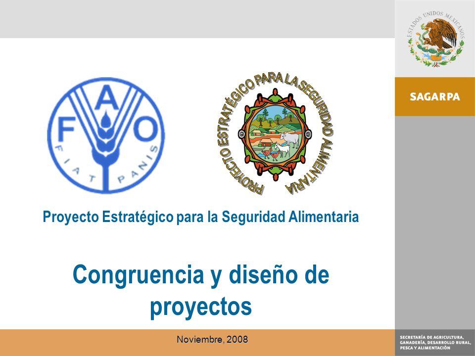 Proyecto Estratégico para la Seguridad Alimentaria Congruencia y diseño de proyectos Noviembre, 2008