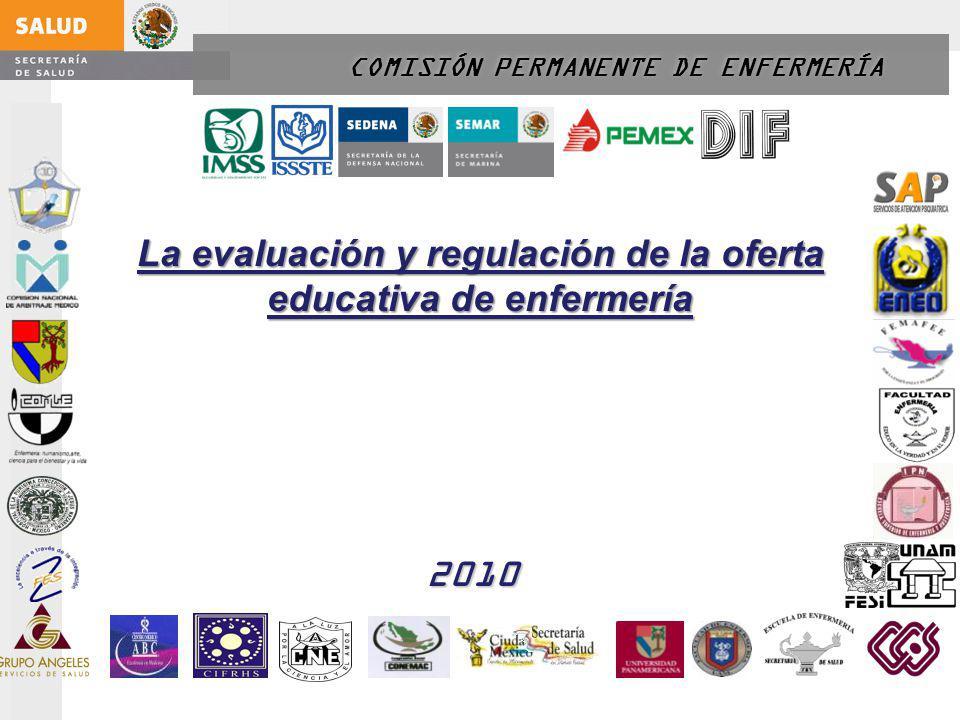 COMISIÓN PERMANENTE DE ENFERMERÍA La evaluación y regulación de la oferta educativa de enfermería 2010