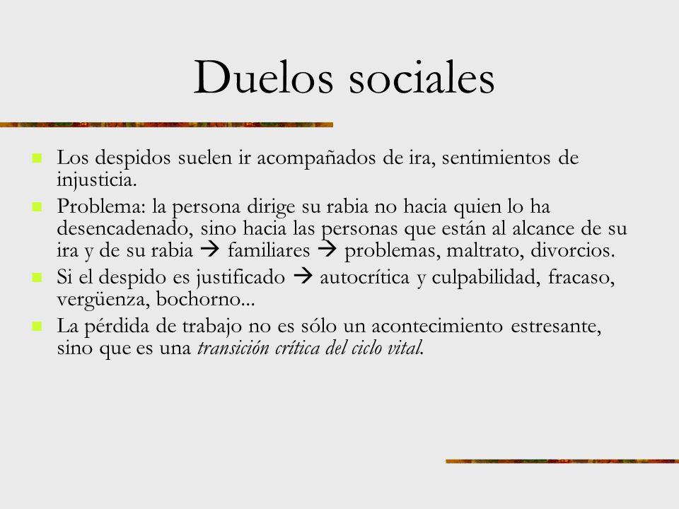Duelos sociales Para Freud los objetivos de la vida psicológicamente sana eran amar y trabajar. En cierto sentido somos lo que hacemos. Definir nuestr