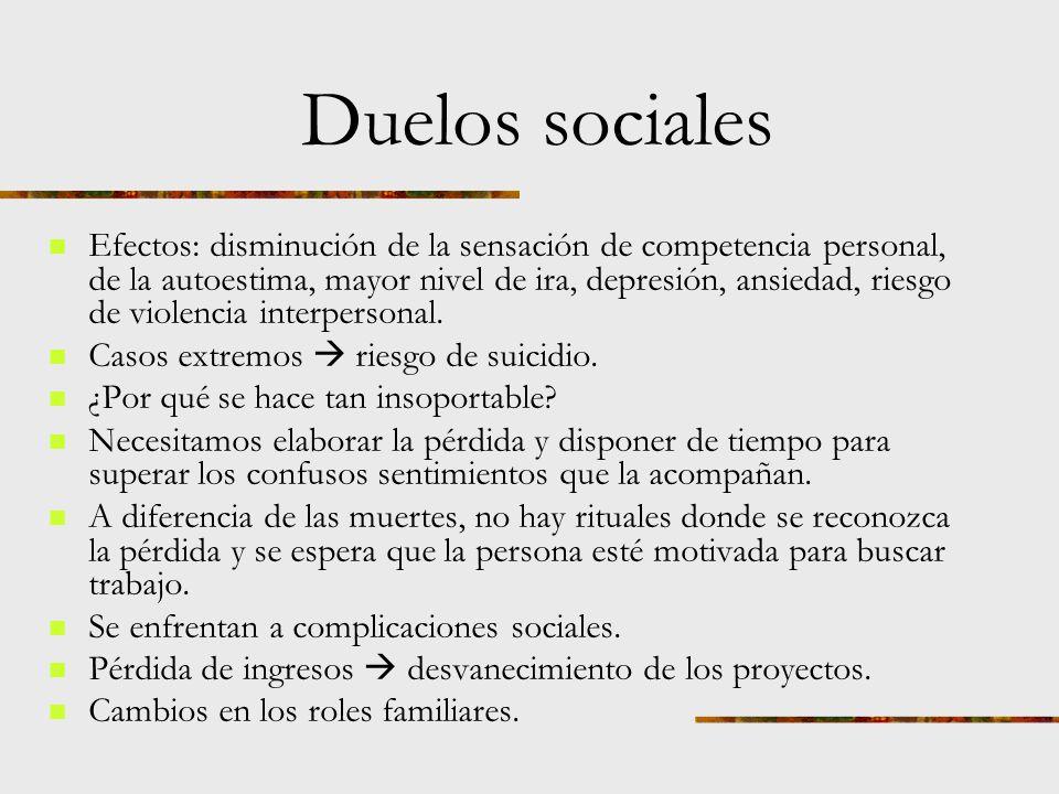 Duelos sociales Los despidos suelen ir acompañados de ira, sentimientos de injusticia.