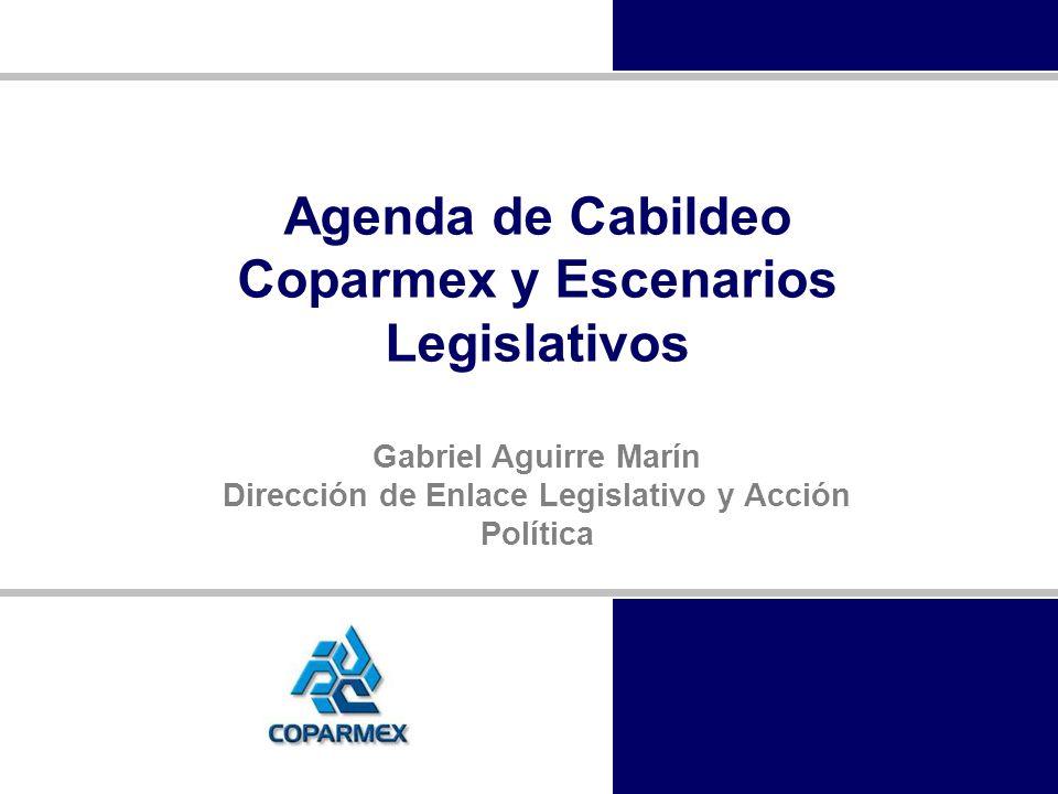 Agenda de Cabildeo Coparmex y Escenarios Legislativos Gabriel Aguirre Marín Dirección de Enlace Legislativo y Acción Política