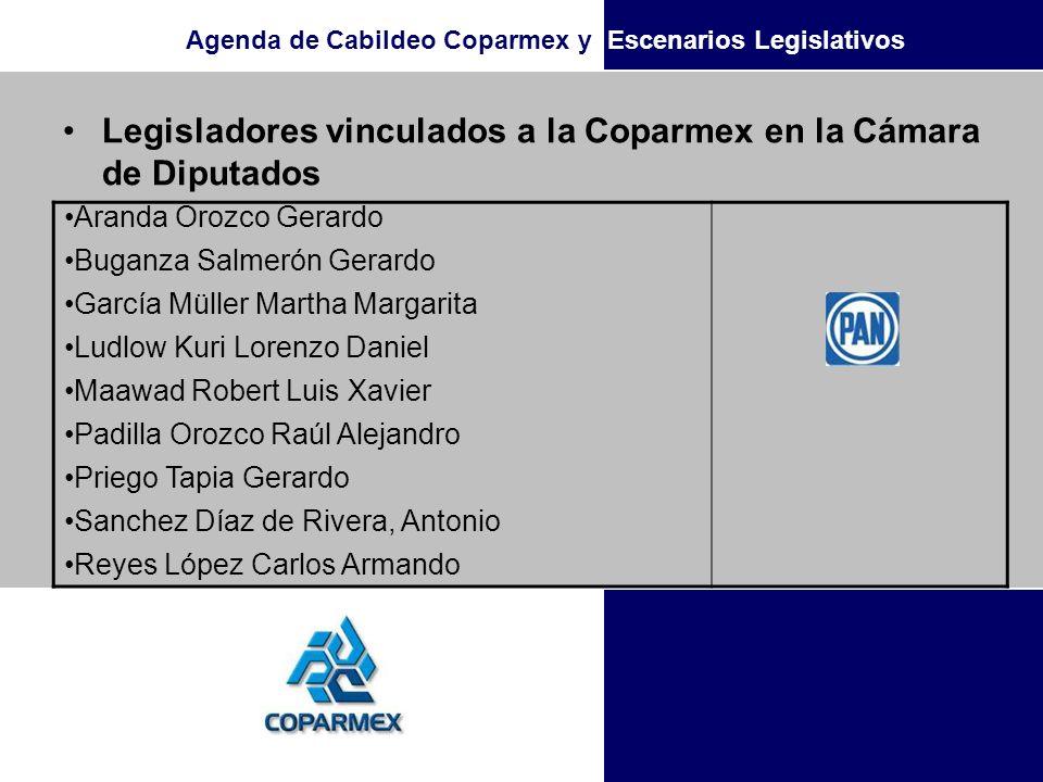 Agenda de Cabildeo Coparmex y Escenarios Legislativos Legisladores vinculados a la Coparmex en la Cámara de Diputados Aranda Orozco Gerardo Buganza Sa