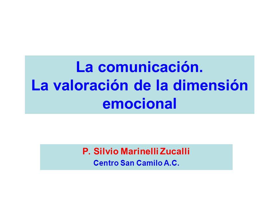 La comunicación. La valoración de la dimensión emocional P.