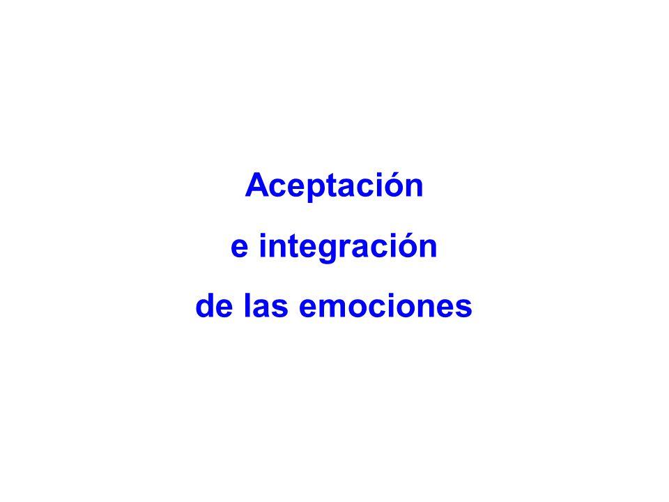Aceptación e integración de las emociones