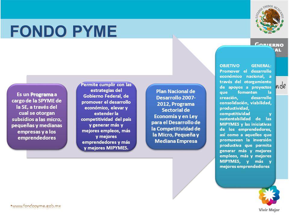 Programa subsidios Es un Programa a cargo de la SPYME de la SE, a través del cual se otorgan subsidios a las micro, pequeñas y medianas empresas y a l