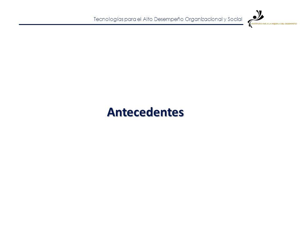 Tecnologías para el Alto Desempeño Organizacional y Social Contexto CONDICIONANTE y RETO de los ejecutores de recursos provenientes del gobierno Aplic