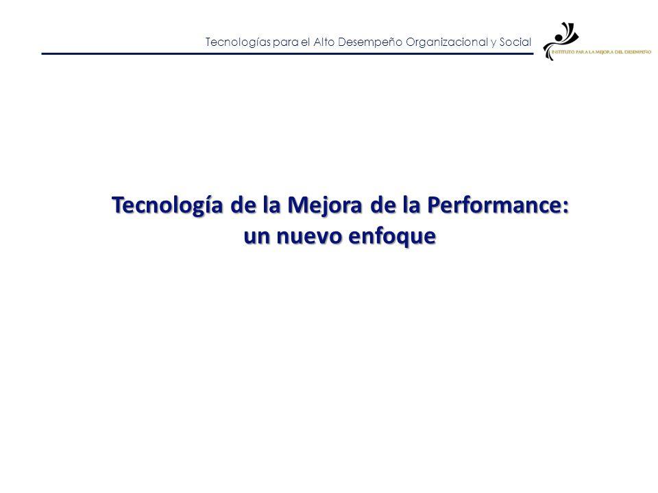 Tecnologías para el Alto Desempeño Organizacional y Social Estrategias