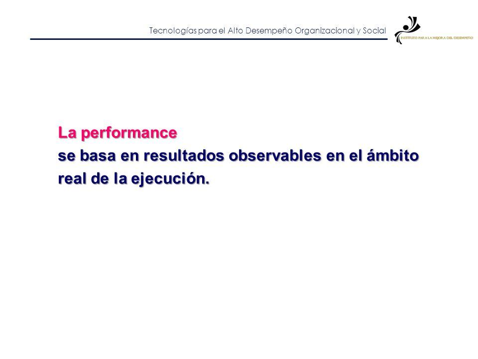Tecnologías para el Alto Desempeño Organizacional y Social Alta performance I.Hacer algo II.Hacerlo bien III.Hacer lo que agrega valor IV.Hacer bien l