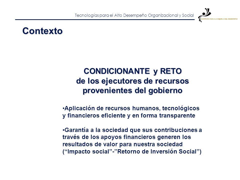 Tecnologías para el Alto Desempeño Organizacional y Social Contexto Este modelo de doble propósito de las IES ya no es suficiente para satisfacer las