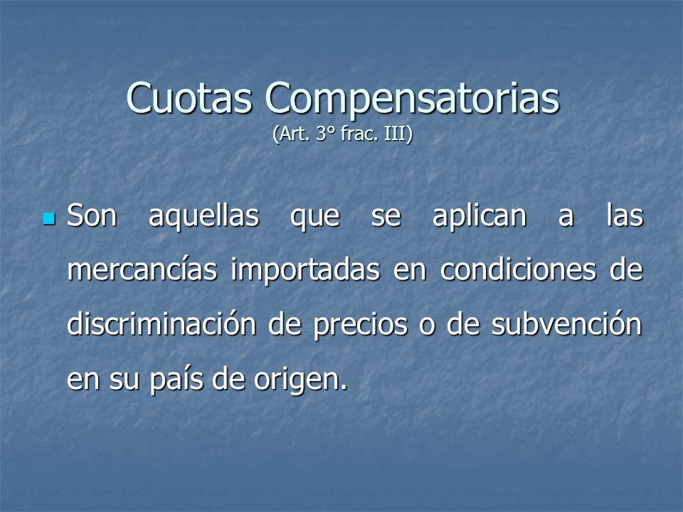 Cuotas Compensatorias (Art.3° frac.