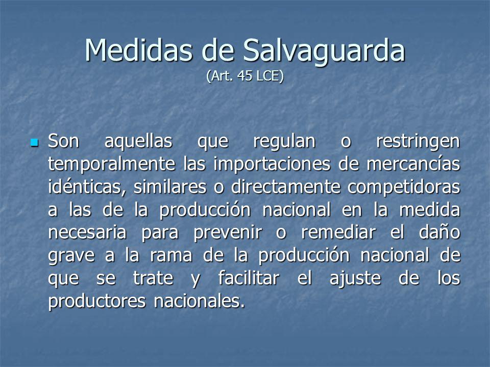 Medidas de Salvaguarda (Art.