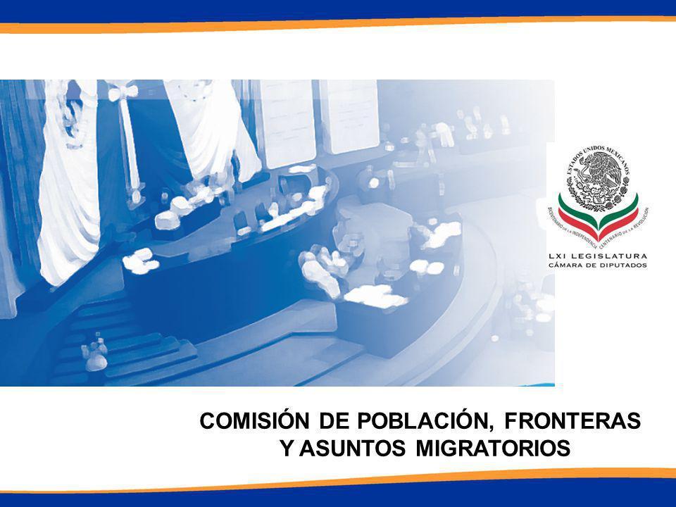 COMISIÓN DE POBLACIÓN, FRONTERAS Y ASUNTOS MIGRATORIOS 8 de Abril de 2010.