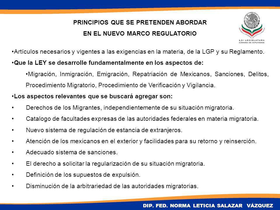 Artículos necesarios y vigentes a las exigencias en la materia, de la LGP y su Reglamento.