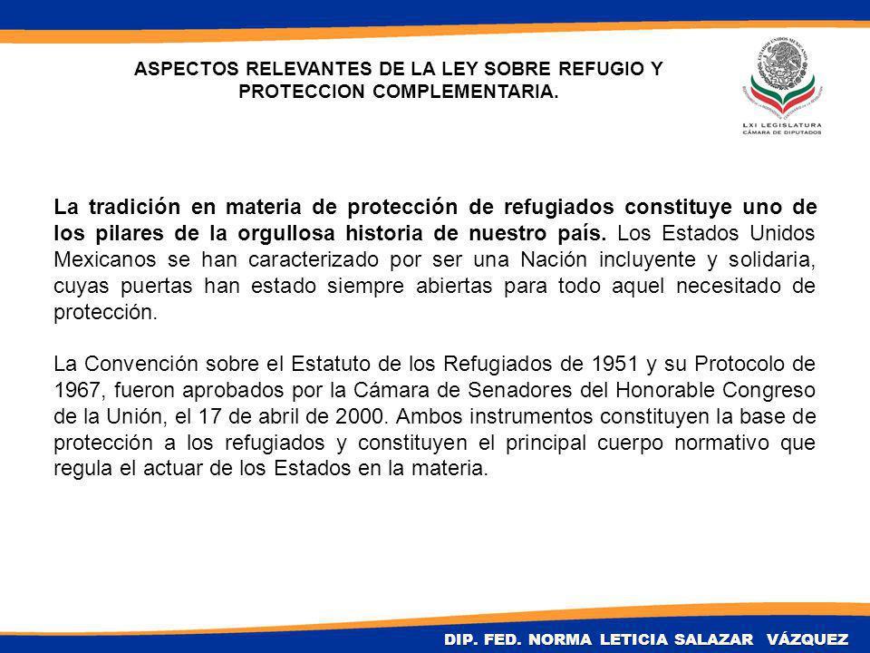 La tradición en materia de protección de refugiados constituye uno de los pilares de la orgullosa historia de nuestro país.