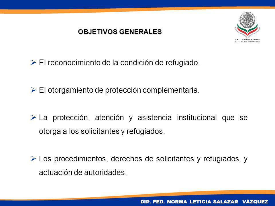 El reconocimiento de la condición de refugiado. El otorgamiento de protección complementaria.