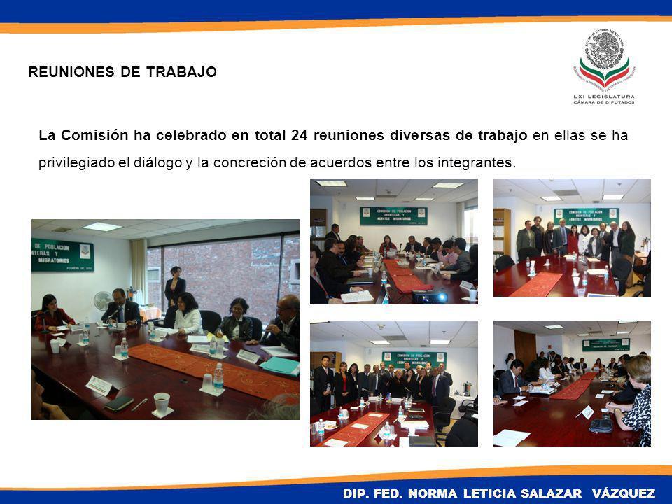 La Comisión ha celebrado en total 24 reuniones diversas de trabajo en ellas se ha privilegiado el diálogo y la concreción de acuerdos entre los integrantes.