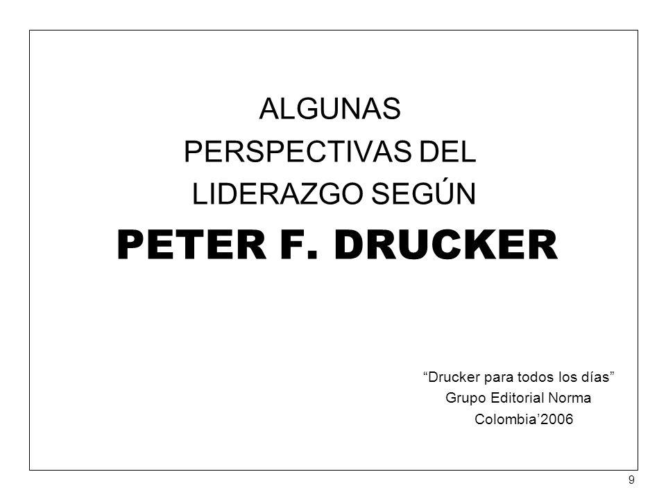 ALGUNAS PERSPECTIVAS DEL LIDERAZGO SEGÚN PETER F.