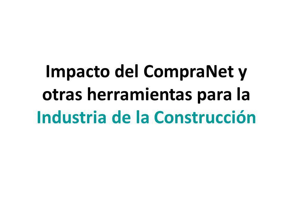 Impacto del CompraNet y otras herramientas para la Industria de la Construcción