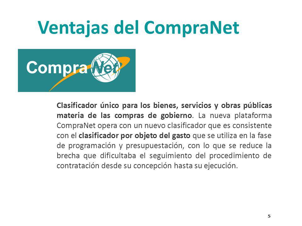 5 Clasificador único para los bienes, servicios y obras públicas materia de las compras de gobierno.