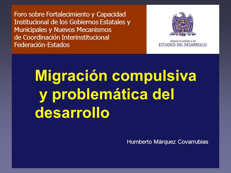 Hipótesis (1/2) El modelo de desarrollo impuesto en México desde los ochenta se basa en la exportación de fuerza de trabajo barata en consonancia con el proceso de reestructuración de la economía de Estados Unidos.