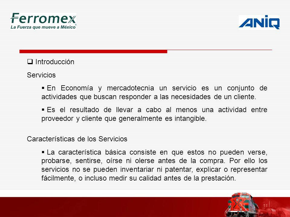 Introducción Servicios En Economía y mercadotecnia un servicio es un conjunto de actividades que buscan responder a las necesidades de un cliente. Es