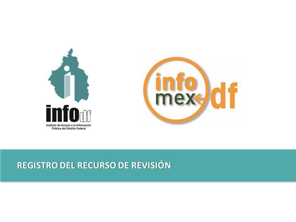 REGISTRO DEL RECURSO DE REVISIÓNREGISTRO DEL RECURSO DE REVISIÓN
