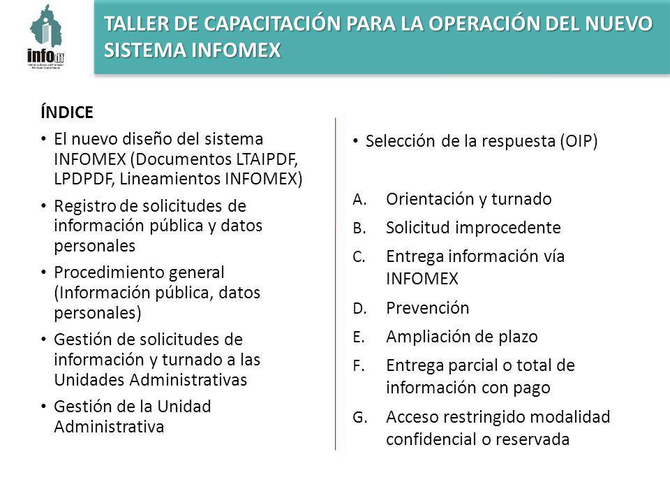 RESPUESTA – D. PREVENCIÓN La OIP revisa la respuesta contenida en el desahogo de la prevención