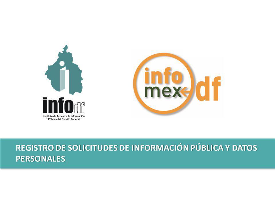 REGISTRO DE SOLICITUDES DE INFORMACIÓN PÚBLICA Y DATOS PERSONALES
