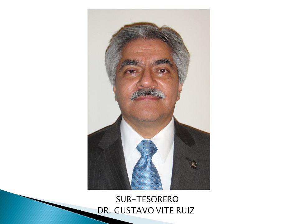 SUB-TESORERO DR. GUSTAVO VITE RUIZ