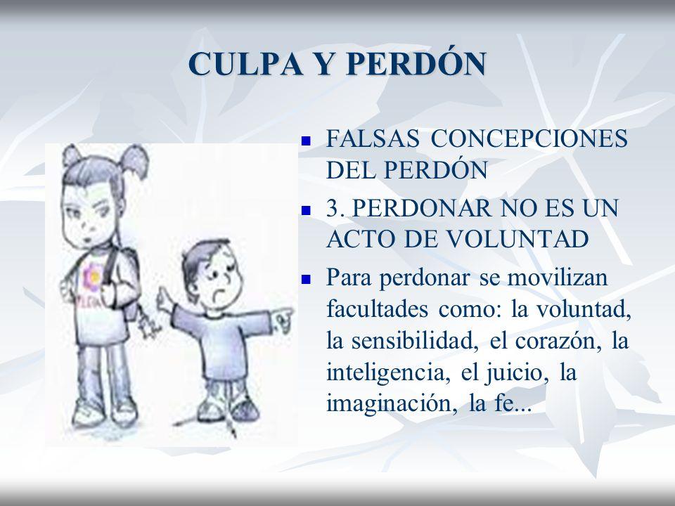 CULPA Y PERDÓN FALSAS CONCEPCIONES DEL PERDÓN 2.