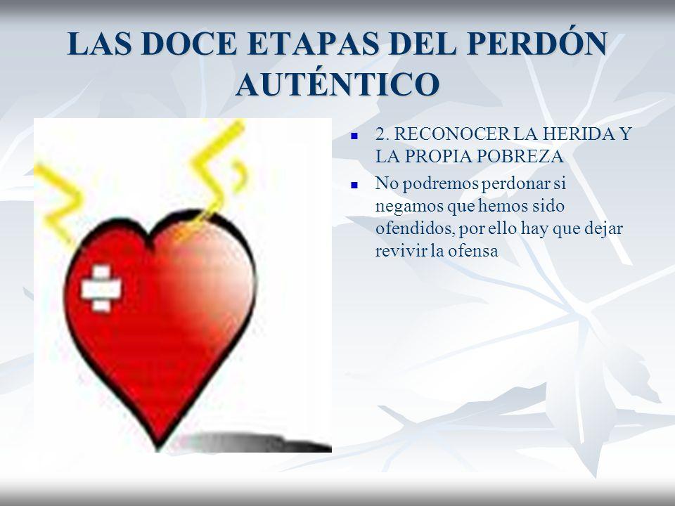 LAS DOCE ETAPAS DEL PERDÓN AUTÉNTICO 1.