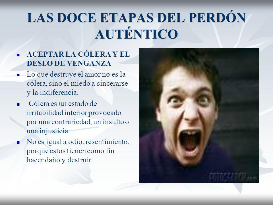 LAS DOCE ETAPAS DEL PERDÓN AUTÉNTICO QUINTA ETAPA ACEPTAR LA CÓLERA Y EL DESEO DE VENGANZA Hay que ser psicoterapeuta para saber cuánta agresividad reprimida hay bajo el falso perdón (Paul Tournier)