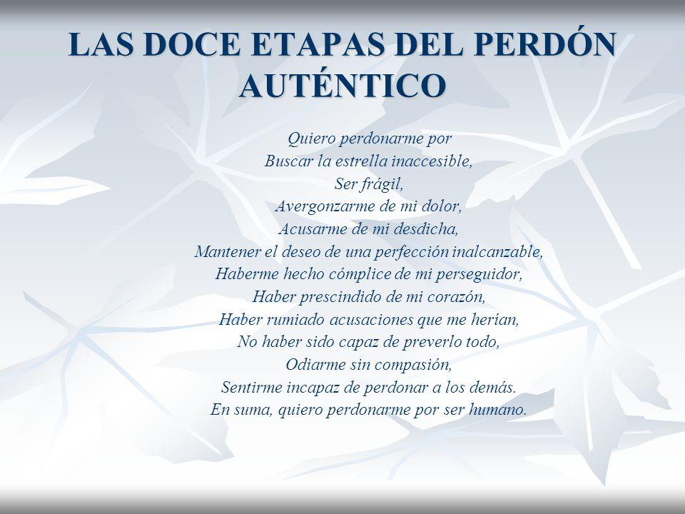 LAS DOCE ETAPAS DEL PERDÓN AUTÉNTICO EJERCICIO 4. Experimentar el perdón a sí mismo: