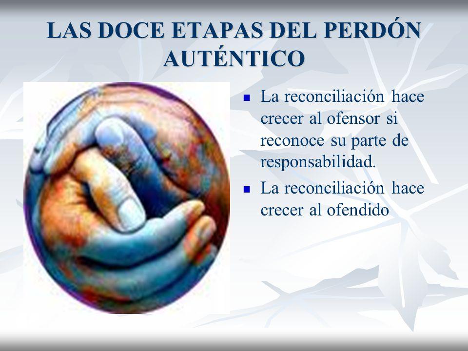 LAS DOCE ETAPAS DEL PERDÓN AUTÉNTICO No es igual perdón y reconciliación, aunque se cree así.