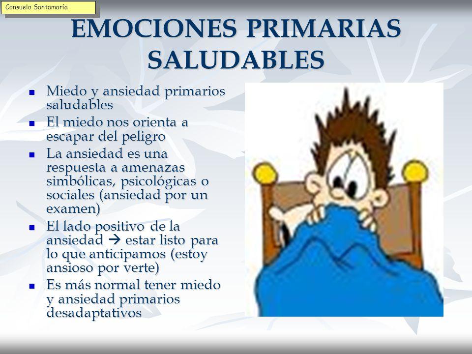 EMOCIONES PRIMARIAS NO SALUDABLES El enfado primario no saludable se da cuando no sirve para proteger del daño.